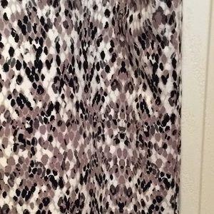 Merona EUC Snakeskin Print Mini Skirt